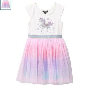 Zunie unicorn tulle dress